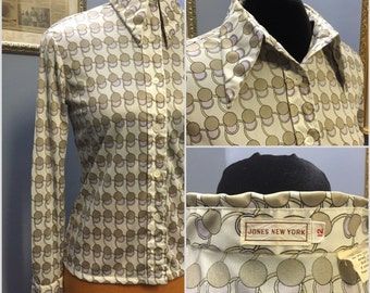Jones New York 70s vintage blouse