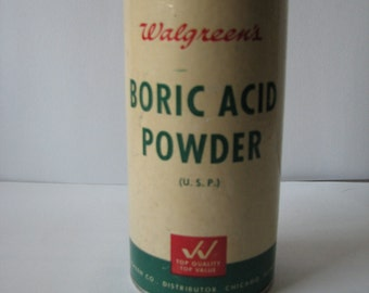 Vintage Walgreens Boric Acid Powder