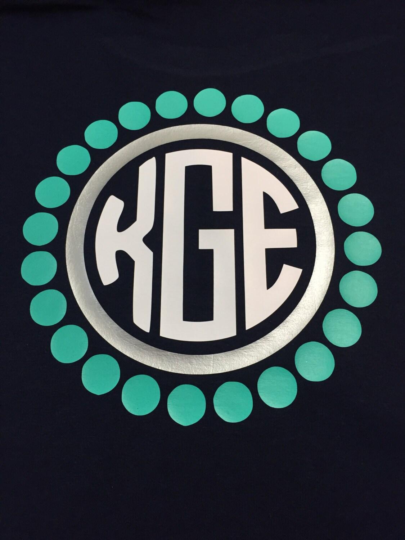 preppy dots monogram shirt