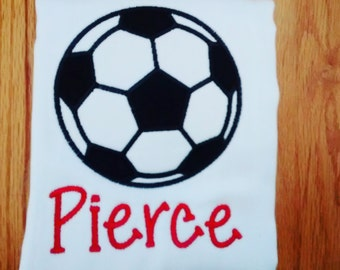 Personalized Soccer Ball Burp Cloth