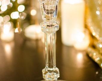 Antique Glass Candlestick