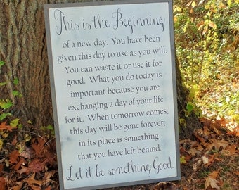 This is the Beginning Wood Sign Inspirational Wooden Sign Let it be Good Wall Art Christmas gift