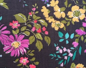 Regent Street Lawns by Sentimental Studios for Moda Fabrics Large Floral on Charcoal