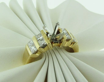 14 K Gold Diamond Engagement Ring Setting