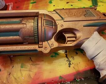 Steampunk Gun Nerf Maverick Rev-6
