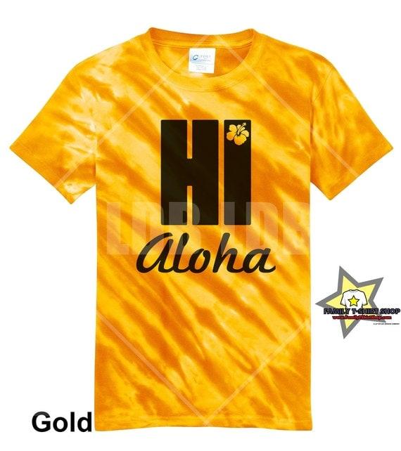 Aloha HI Hawaiian Tie Die T-Shirt