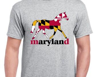 Maryland Horse Shirt - Adult Sizes, Short Sleeve
