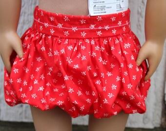 American Girl Doll Bubble Skirt