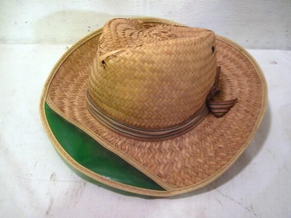 Panama fedora straw fishing hat beach summer for Fishing straw hat