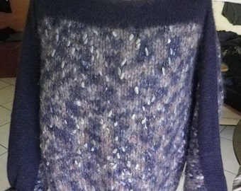Beautiful sweater knitted by hand by myself, wool ANNY BLATT, vintage 80s, size 42