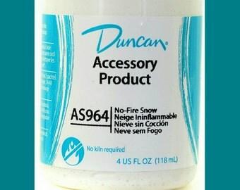 Duncan No Fire Snow - Snow - Snow Paint - AS 964 - 4 Ounce Jar - No Fire Paint - Snow - Project Finishing Snow- Ceramic Snow - Duncan Paint