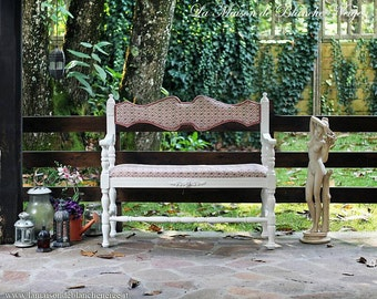 Shabby chic bench-shabby chic bench
