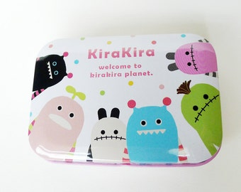 Alien Box, Monster Box Party Favor Product Packaging Small Metal Tin Stash Box Packaging Becomes Part of Gift Wedding KiraKira Planet Tin