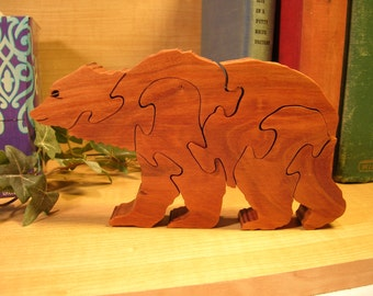 Brown Bear Wooden Puzzle #282