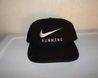 Vintage 90's Nike Running Swoosh Snapback by Nike
