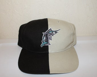 Vintage 90's Florida Marlins Strapback by Twins