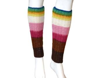 Wool leg warmers knitted boot socks fashion legwear, yoga dance studio legwarmers, high socks boot warmers, boot toppers, leg warmers womens