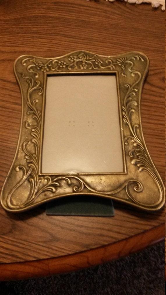 Vintage 5x7 Brass Picture Frame