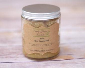 Organic Rose Sugar Scrub - Organic Body Scrub - Natural Body Scrub - Sugar Body Scrub - Exfoliating Body Scrub - Full Body Scrub - Gift Idea