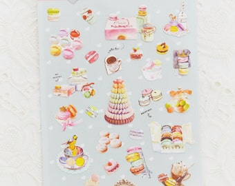 French Macaron Sticker Set