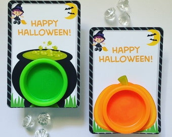 Halloween playdoh cards