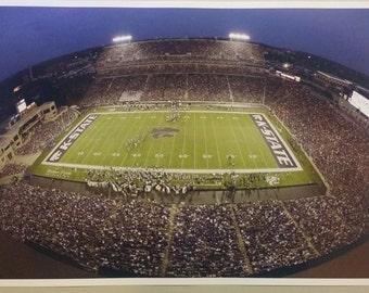 "Kansas K State Wildcats Football University Stadium  19"" x 13""  Poster Print"