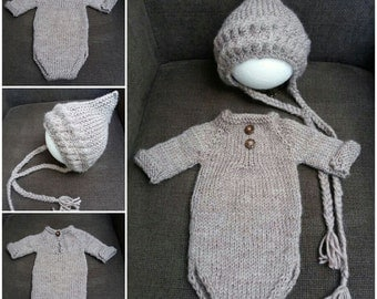 "Romperset ""Wooly"" for the newborn boys"