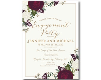 PRINTABLE Engagement Party Invitation, Engagement Party Invitation, They're Engaged, We're Engaged, Engagement Party Invitation #CL178
