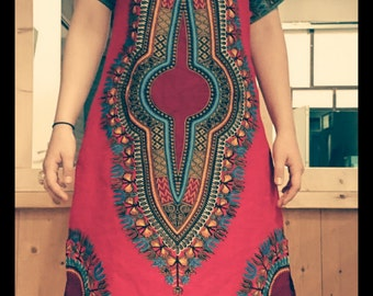 Dashikiprint graduation dress