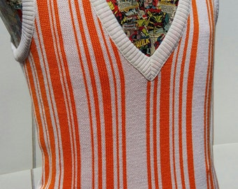 Vintage 1970's  Men's Wool Tank top/Vest. Funky, Cool & Fun.