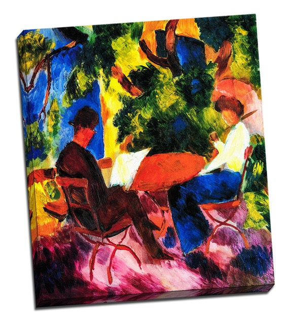 Couple at the Table by August Macke on Mirror Wrap Professional Matte Canvas