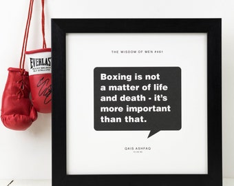 Personalised Boxing Print; Boxing Gift; Boxing Poster; Husband Gift; Boyfriend Gift; Mens Gift; Boxer Gift; Boxing Fans Gift; PAP103