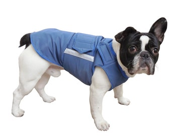 French Bulldog Extra Warm Winter Dog Coat - Dog jacket with underbelly protection - Winter coat - Custom made for your dog