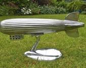 Vintage style polished metal Zeppelin model airship