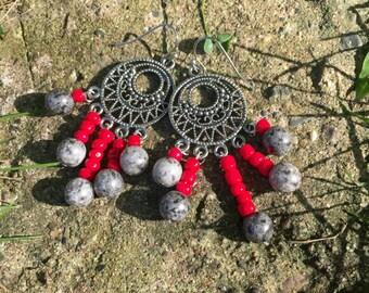 Red Dangly earrings