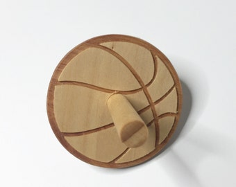 Basketball Spintop, Wooden Top, Wooden Spintop, Sport Edition Spinning Top, Spinning Top