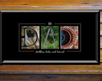 Fathers Day Gift Ideas – Gift Ideas For Dad – Presents For Dad – Birthday Gifts For Him – Birthday Gift Ideas For Dad – Alphabet Photography