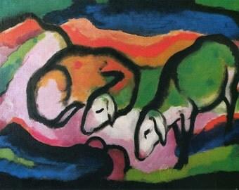 Franz Marc: Sheep. Fine Art Print/Poster (00696)