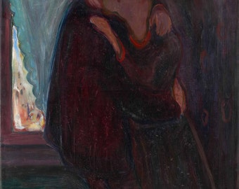 Edvard Munch: The Kiss. Fine Art Print/Poster (0081)