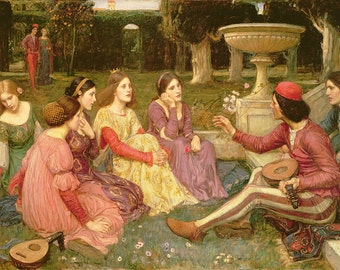 John William Waterhouse: The Decameron. Fine Art Print/Poster. (003643)