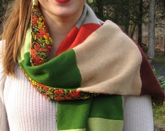 Cashmere Scarf - Silk - Reconstructed