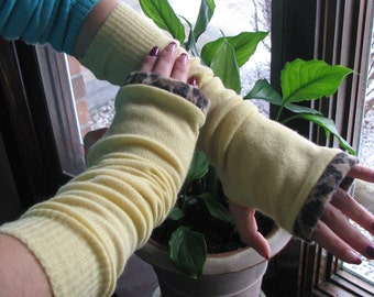 Cashmere Fingerless Gloves - Typing gloves - Arm warmers