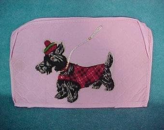 Appliance Cover With Scottie Dog Pink Plastic For Toaster