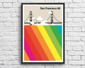 "Art-Poster 50 x 70 cm - ""San Francisco 68"""