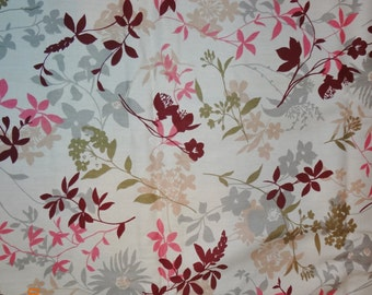 "3 Yards Retro Style Floral Print Soil and Stain Release Finish Fabric - 45"" wide"