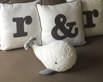 Moby the Vintage Chenille Whale