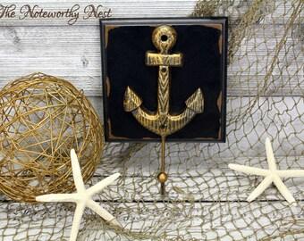 CLEARANCE: Large Anchor hooks / Iron anchor hook / bathroom decor / nautical decor / boys bedroom / sailor decor / beach decor / boat anchor