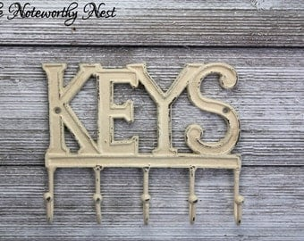 ANY COLOR - Key Hook // Key Holder // Cast Iron Key Hook // Cast Iron Keys // Keys Wall Hook // Key Hanger // key decor //