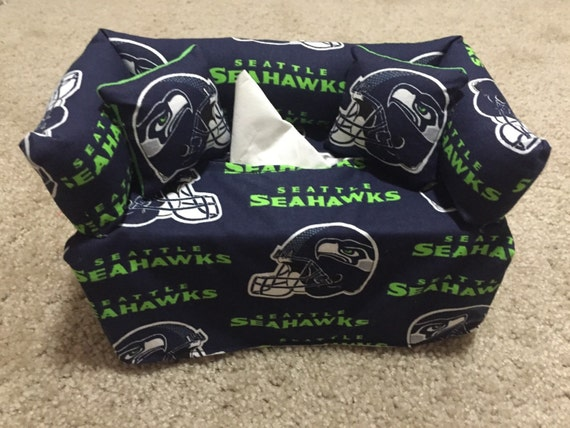 Seattle Seahawks Sofa Couch Tissue Box Cover