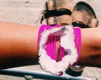 White x Hot Pink Wrap